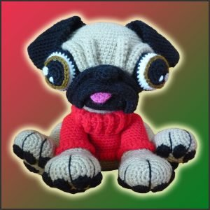 Barry, The Pug – Amigurumi Pattern
