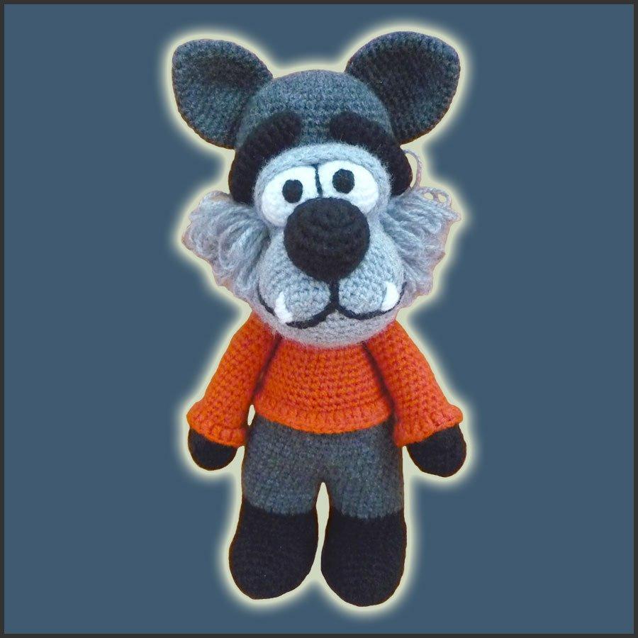 Big Bad Wolf - Amigurumi Pattern - Delicious Crochet
