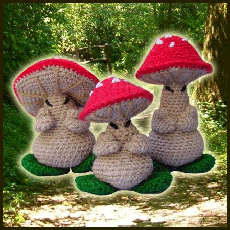 Amigurumi Crochet Mushroom : The 3 Oriental Mushrooms - Amigurumi Pattern - Delicious ...