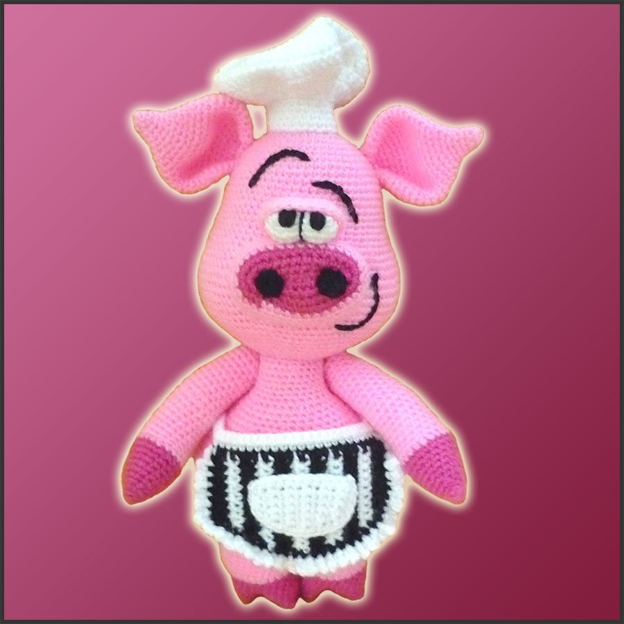 Pierre, The Chef Pig – Amigurumi Pattern