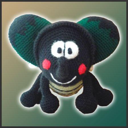 Butterfly Lalylala toy Crochet doll Handmade Amigurumi bug beetle ... | 450x450