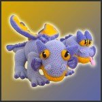 Gemini, The Two-Headed Dragon – Amigurumi Pattern