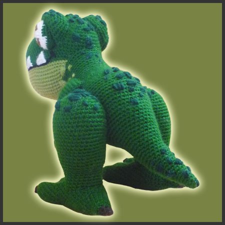 Crochet Patterns Free Doll Clothes : T-Rex - Amigurumi Pattern - Delicious Crochet