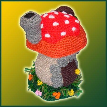 Mushroom House - Amigurumi Pattern - Delicious Crochet