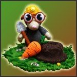 Eugene, The Mole – Amigurumi Pattern