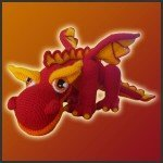 JJ, The Fire Dragon – Amigurumi Pattern