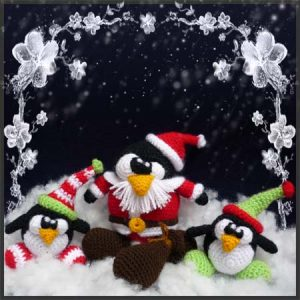Santa Tux and Elves