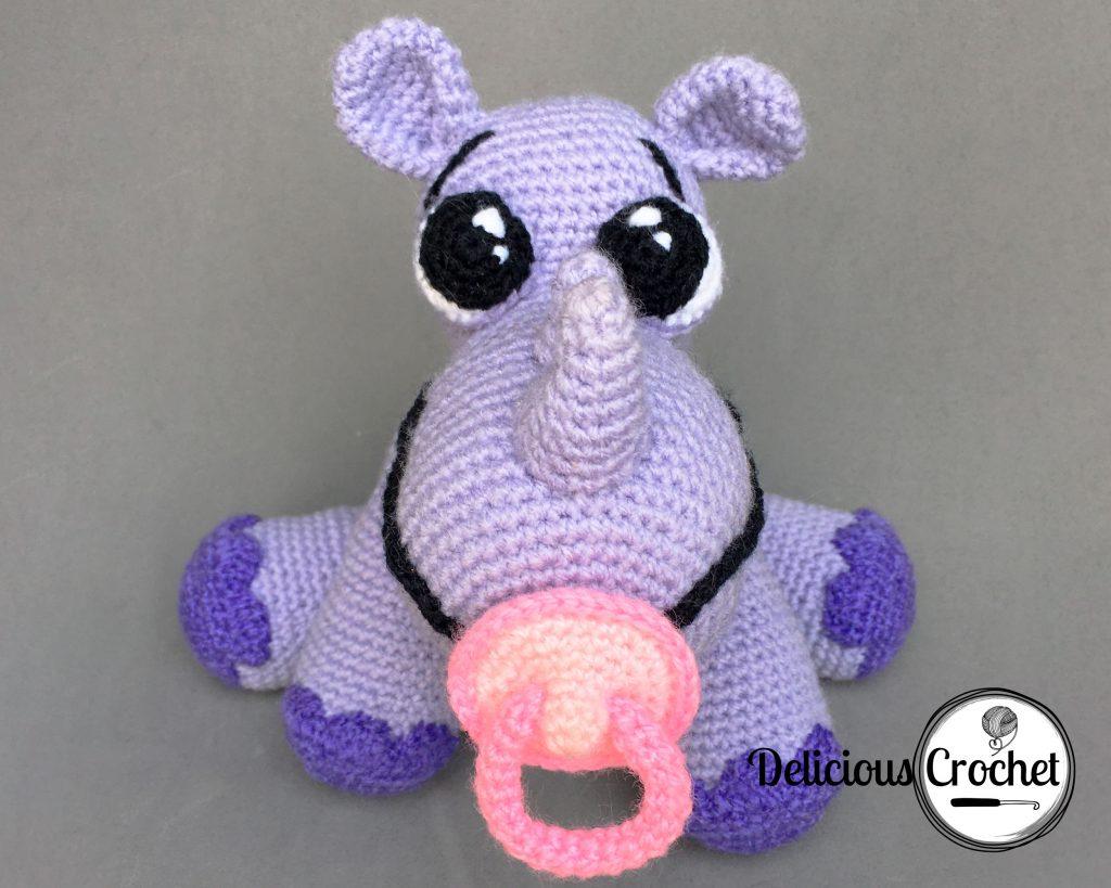 Baby Rhinoceros Amigurumi Pattern